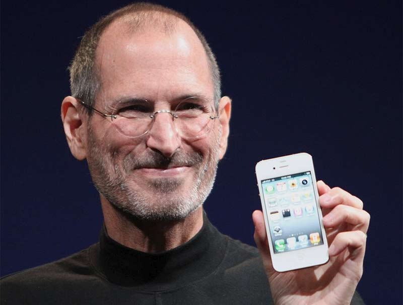 steve jobs mit iphone